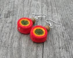 reggae earrings reggae lover jewelry etsy