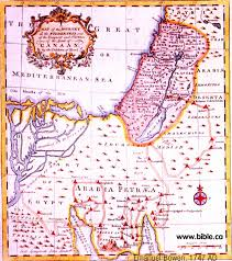 Where Is Israel On The Map Exodus Route Maps Old Ancient Antique Vintage And Modern Maps