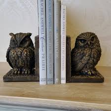 wooden owl bookends cute owl bookends for fashionable library