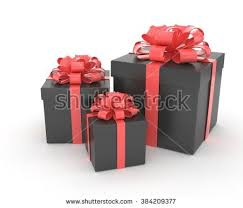 boxes with bows big pile wrapped black gift boxes stock vector 534736729
