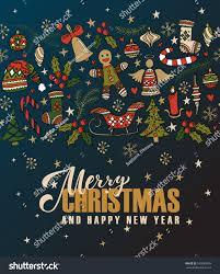 merry happy new year happy stock vector 530680429
