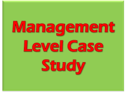 management level case study exam mcs resources study cima