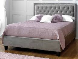 limelight rhea silver fabric bed frame from the bed station