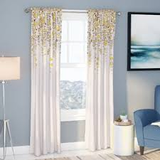 Yellow White Curtains Yellow And Turquoise Curtains Wayfair