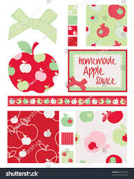pretty apple patterns use print onto stock vector 58732042