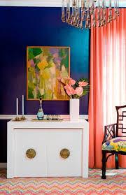Navy And Pink Curtains Sherwin Williams Loyal Blue Navy Wall Coral Curtain Coral