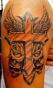 tattoo for biceps 27 best tat images on pinterest cross tattoos crosses and half