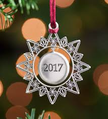 2017 collectible ornament solid pewter tree ornament