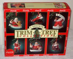 coca cola trim a tree collection santa claus ornaments coke haddon