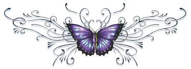 onderrug purple butterfly back lila schmetterling