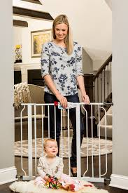 amazon com regalo easy step walk thru gate white fits spaces