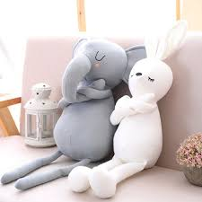 stuffed bunny 50cm soft cotton nose elephant pillow plush toys animals