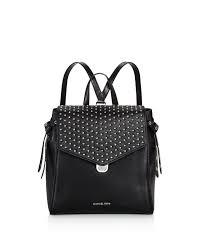 lyst michael michael kors bristol medium leather backpack in black