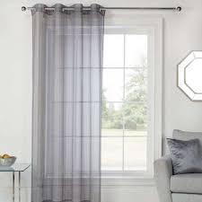 Light Grey Sheer Curtains Elements Aspen Grey Sheer Eyelet Voile Panel Dunelm