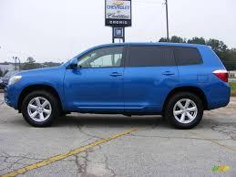 Blue Ash Color by 2008 Blue Streak Metallic Toyota Highlander 19365317 Gtcarlot