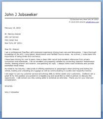 Resume Cover Letters Sample by Chauffeur Cover Letter Sample Creative Resume Design Templates