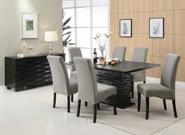 oval brown wooden dining table modern formal dining room floral