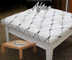 Diy Ottoman Coffee Table Coffee Table To Ottoman Makeover