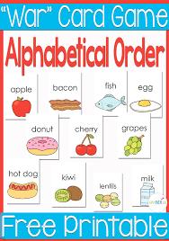 free printable alphabetical order war card alphabetical