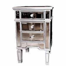 Silver Leaf Nightstand Leaf Mirrored Nightstand