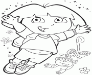 dora paint coloring pages printable