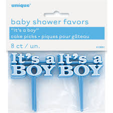 plastic blue it u0027s a boy baby shower cupcake toppers boy baby