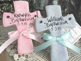 baptism gift for salt dough crosses set of 2 personalized