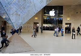 Apple Store Paris Apple Store In Louvre Museum Paris Stock Photos U0026 Apple Store In