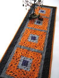 bats and spiders halloween table runner u2013 patchwork mountain