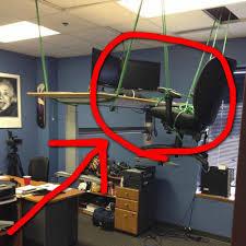 Office Desk Prank Office Pranks Hanging Desk Dose Of