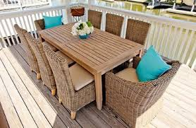 Teak Outdoor Dining Table And Chairs Outdoor Dining Table With Wicker Chairs 1024x667 Outdoor Dining