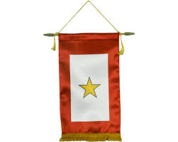 service banner 1 gold 8x14 service flags