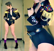 Janet Jackson Rhythm Nation Halloween Costume Alex Bedazzeled Cropped Military Jacket