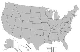 United States Map Black And White Of The 20 Highest Peaks In The United States 17 Are In A