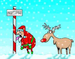 santa claus reindeers animated gifs gifmania