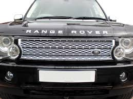 land rover vogue 2005 black silver supercharged grille for range rover l322 03 05 vogue