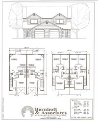100 multifamily plans confederate two story duplex plan