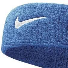 white and blue headband nike swoosh headband osfm blue white