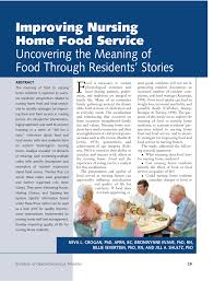 improving nursing home food service uncovering the meaning of