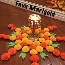 Diwali Decorations In Home Faux Marigold Decorations Diwali Decoration And Diwali Decorations
