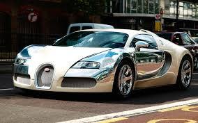 galaxy bugatti chiron bugatti veyron in white and silver chrome front and side view
