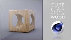 cube use material wood cinema 4d tutorial youtube