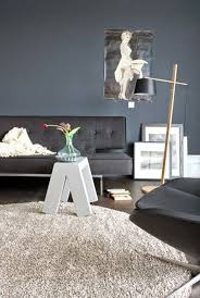 living room paint color ideas gray wall paint and black furniture