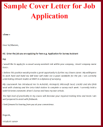 cover letter a sample of a cover letter for a job an example of a