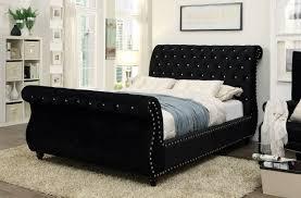 Black King Size Platform Bed Noella Black California King Platform Bed Cm7128bk Ck Savvy