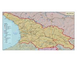 State Of Ga Map by Maps Of Georgia Detailed Map Of Georgia In English Tourist Map