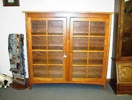 Wood Bookshelves With Doors by Wooden Bookshelves With Glass Doors U2014 Home Ideas Collection