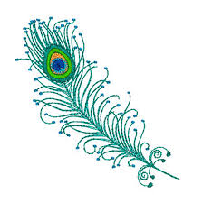 peacock feathers with mylar purely gates embroidery