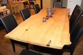 interior live edge dining room table with stylish live edge
