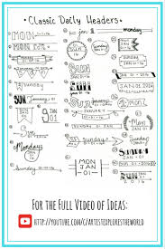 Bullet Journal Tips And Tricks by Bullet Journal Banners And Headers Bullet Journaling And